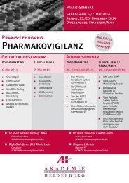 Pharmakovigilanz z - AH Akademie für Fortbildung Heidelberg GmbH
