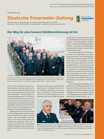 November 2013 - Deutscher Feuerwehrverband