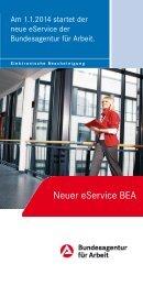 Neuer eService BEA - Bundesagentur für Arbeit