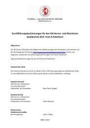 Alt Herren Durchführungsbestimmungen 2014 - FLVW Paderborn