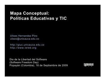 Mapa Conceptual: Políticas Educativas y TIC - ieRed