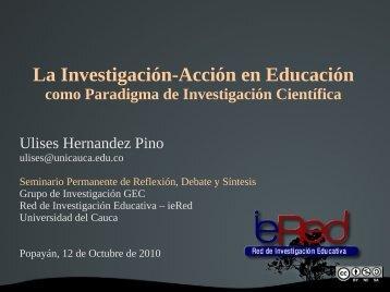 La Investigación-Acción en Educación Origen - ieRed