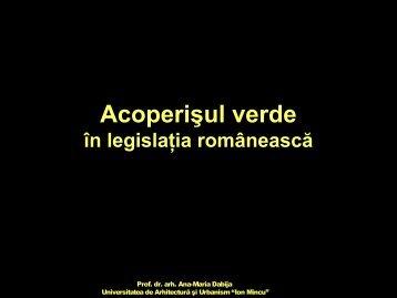 Acoperişul verde în legislaţia românească