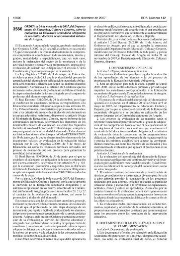 Orden de 26 de noviembre de 2007 (BOA 3 diciembre 2007)