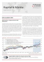 ELLWANGER & GEIGER: Kapital & Märkte, Ausgabe Januar 2014