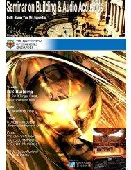 Seminar on Building & Audio Acoustics - Institution of Engineers ...
