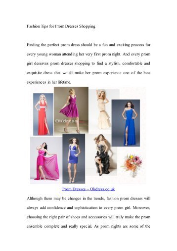 Fashion Tips for Prom Dresses Shopping .pdf
