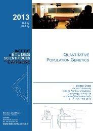 Michael Desai - Institut d'études scientifiques de Cargèse (IESC)