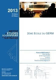 Program... - Institut d'études scientifiques de Cargèse (IESC)