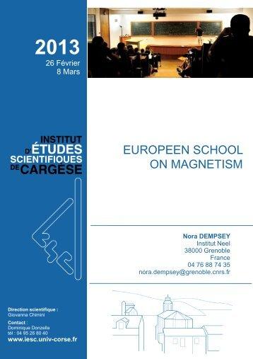 Diapositive 1 - Institut d'études scientifiques de Cargèse (IESC)