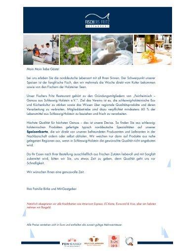 bei uns erleben Sie die norddeutsche Lebensart ... - Hotel Birke Kiel