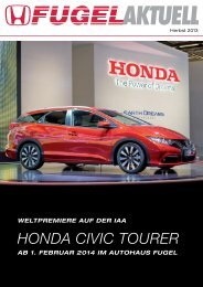 HONDA CIVIC TOURER - Honda Fugel
