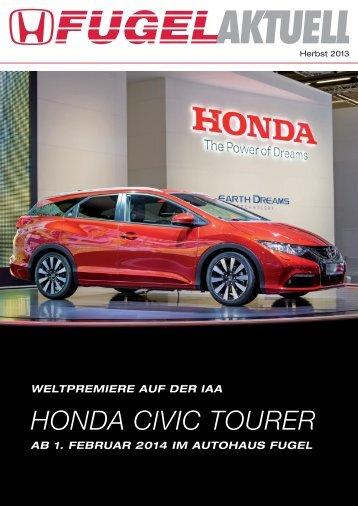 HONDA CIVIC TOURER - Honda Fugel