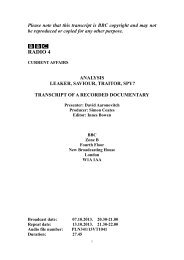 Leaker, Saviour, Traitor, Spy? - BBC