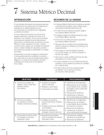 7- Sistema Métrico Decimal - IES La Escribana