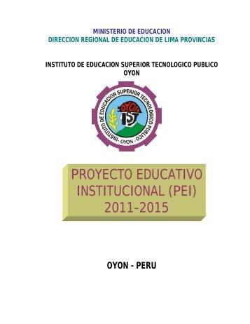 plan estrategico institucional - IESTP Oyon