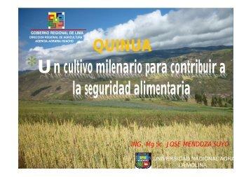*Un cultivo milenario para contribuir a la seguridad alimentaria ...