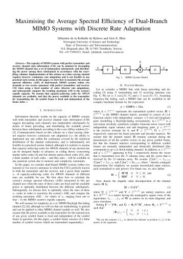 Maximising the Average Spectral Efficiency of Dual-Branch ... - NTNU