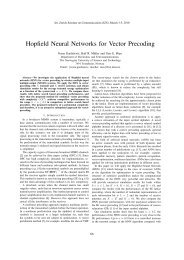 Hopfield Neural Networks for Vector Precoding - NTNU