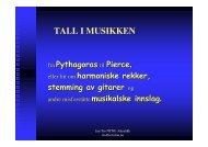 TALL I MUSIKKEN - NTNU