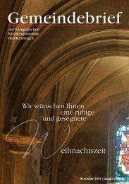 Gemeindebrief 12 2013