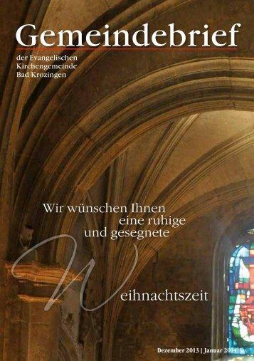 Gemeindebrief 12|2013