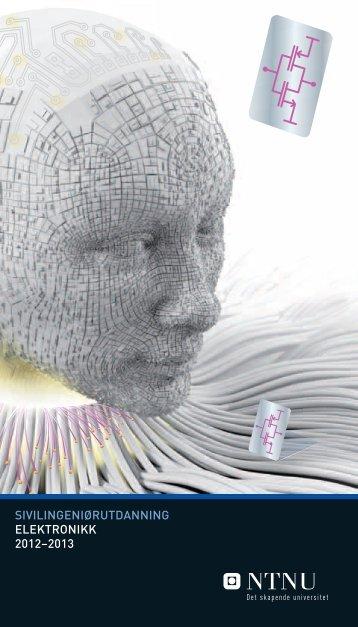 sivilingeniørutdanning elektronikk 2012–2013 - Institutt for ...