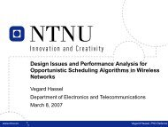 What is Opportunistic Scheduling? - NTNU