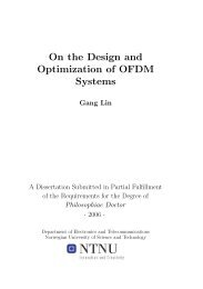 On the Design and Optimization of OFDM Systems - NTNU