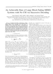 An Achievable Rate of Large Block-Fading MIMO Systems ... - NTNU