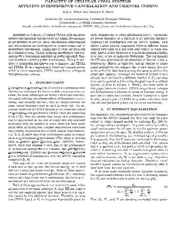 CAPACITY OF CELLULAR CDMA SYSTEMS APPLYING ...