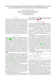 adaptive trellis-coded modulation with imperfect channel ... - NTNU