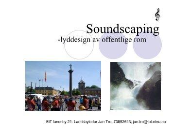 Soundscaping - NTNU