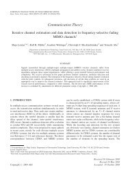 Iterative channel estimation and data detection in frequency ...