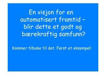 Automatisert framtid