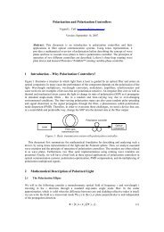 Polarization and Polarization Controllers - NTNU