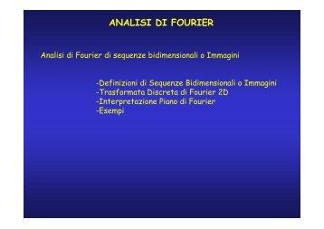 Analisi_Fourier_Imma.. - Dipartimento di Ingegneria dell'Informazione