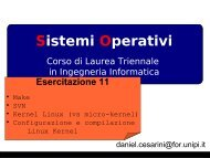 Linux Kernel, configuration, compiling - Dipartimento di Ingegneria ...