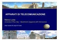APPARATI DI TELECOMUNICAZIONE - Dipartimento di Ingegneria ...