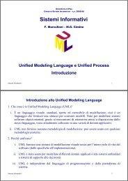 UML e Unified Process - Dipartimento di Ingegneria dell'Informazione