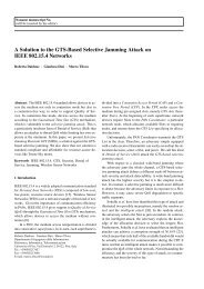 A Solution to the GTS-Based Selective Jamming Attack on IEEE ...