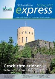 Geschichte erleben - VGWS - Verkehrsgemeinschaft Westfalen-Süd