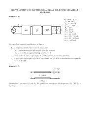 Soluzione del testo di Elettronica delle Telecomunicazioni I del 13 ...