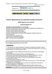 """Leitlinie """"Begutachtung nach gedecktem Schädel-Hirntrauma"""" - AWMF"""