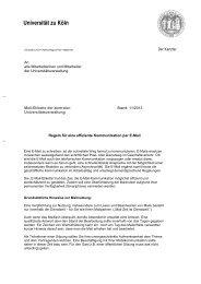 Mailetikette - Verwaltung - Universität zu Köln