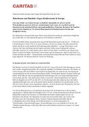 Hinschauen und Handeln: Gegen Kinderarmut in Europa - CARITAS ...