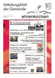 Freitag, den 05. Juli 2013 Nummer 27 - Gemeinde Ehrenkirchen