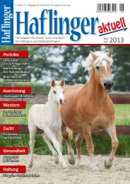 Mai/Juni 2013 - Haflinger aktuell