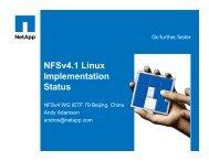 NFSv4.1 Linux Implementation Status