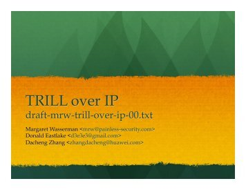 TRILL over IP